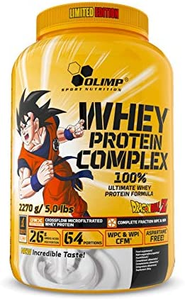 Olimp Nutrition Whey Protein Complex 100% Limited Edition Dragon Ball, Weiße Schokolade mit Himbeer - 2270 g