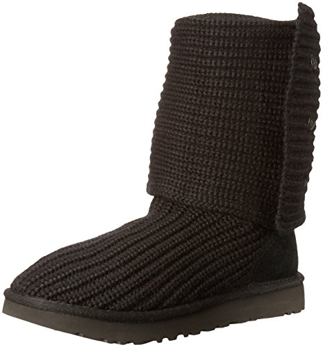 UGG Women's Classic Cardy Winter Boot, Black, 8 B US