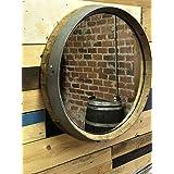 Wine Barrel Top Mirror