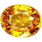 S Kumar Gems & Jewels Pukhraj Stone Original Certified Natural Yellow Sapphire Gemstone 10.25 Ratti