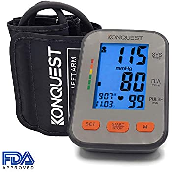 ... Monitor - Accurate, FDA Approved - Adjustable Cuff, Large Screen Display, Portable Case - Irregular Heartbeat & Hypertension Detector - Tensiometro