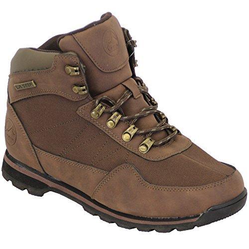 Bottine Trace à Chaussures Lacets Randonnée Hiver Gear LA Marche LH1452 Combat Hommes Café q1xwEHzY