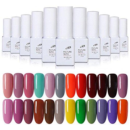 Gel Nail Polish Kekailu, 6ml Long Lasting Women Nail Art Design Manicure UV LED Nail Gel Polish Lacquer - 1# ()