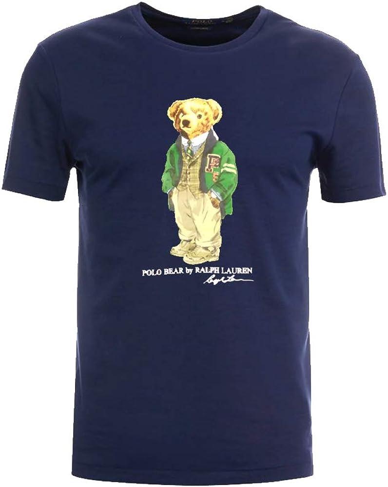 Polo Ralph Lauren Camiseta Custom Slim fit Polo Bear (S, Navy): Amazon.es: Ropa y accesorios