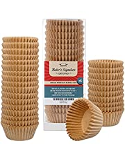 Cupcake Liners Cupcake & Muffin Cups Pack of 400   Grease Resistant Wrappers by Baker's Signature – Will not Burn or Soak Through – Non-Toxic & Comes in Convenient Packaging