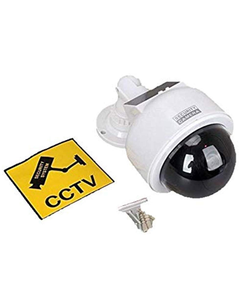 Eight Horses-S Security Fake Camera2/Surveillance Dome Dummy Camera Outdoor Indoor Home/Solar Energy Powered with Flashing Light