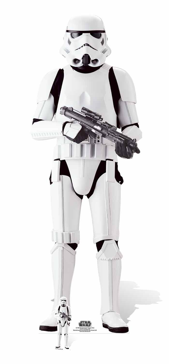 STAR WARS ROGUE ONE Imperial Stormtrooper Carton de la découpe, Multicolore STAR CUTOUTS LTD SC1003
