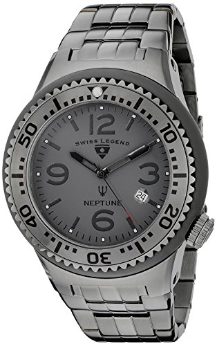 Swiss Legend Men's 21848P-GM-104 Neptune Force Analog Display Swiss Quartz Grey Watch
