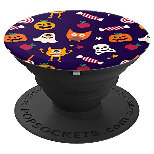 Spooky Wallpaper Halloween Pattern Scary - PopSockets Grip and Stand for Phones and Tablets -