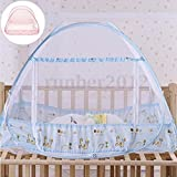 MAZIMARK--100x80cm Portable Foldable Baby Kids Toddler Bed Crib Canopy Mosquito Net Tent