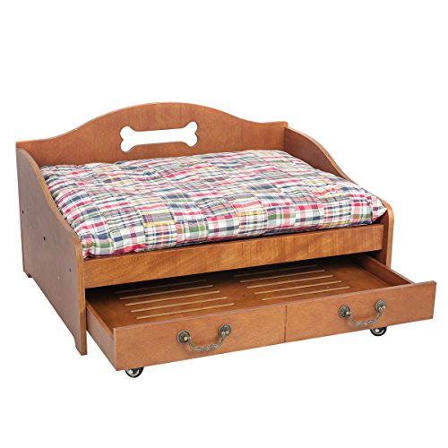 Wooden dog bed for Wood dog bed furniture