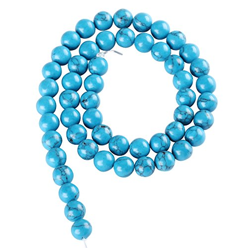 Jade 10mm Round Bead (AAA Natural Howlite Turquoise Gemstone Loose Round Beads 10mm Spacer Beads 15.5
