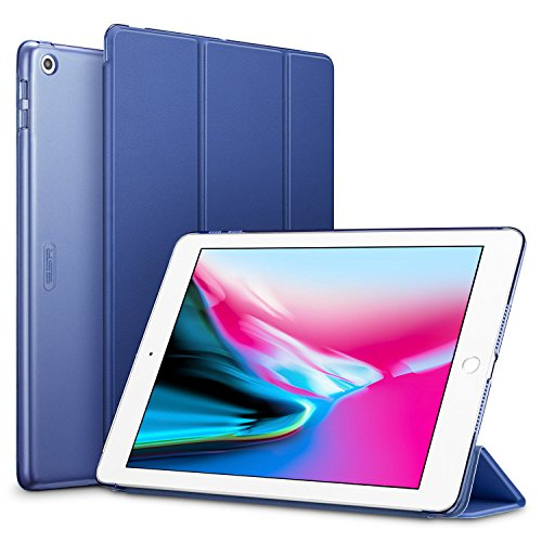 ESR-iPad-2017-iPad-97-inch-Case-Lightweight-Smart-Case-Trifold-Stand-with-Auto-SleepWake-Function-Microfiber-Lining-Hard-Back-Cover-for-the-Apple-iPad-97-inchNavy-Blue