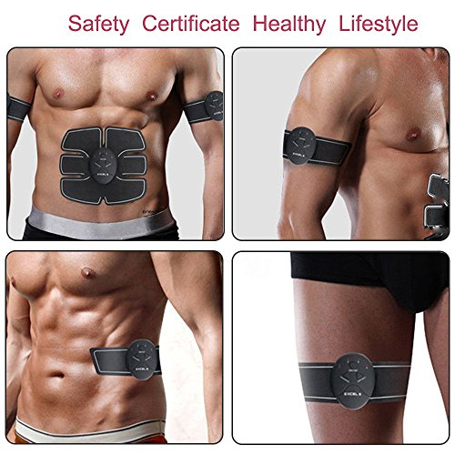 Abdominal Trainers Waist Trimmers Intelligent Fitness Exercise Set Slimming Instrument Belt 3 Host by FIINSS (Image #7)