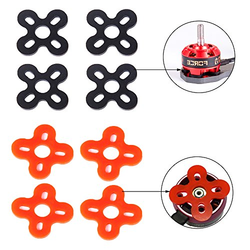 iFlight Motor Spacer Shock Absorber Pads Damping Washer Silicone Material for Emax RS2205 iPower Motor iF2205 2204 2206 2208 and 2306 2405 Series Motors