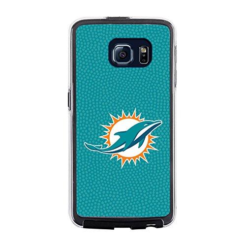 Miami Dolphins Football Case (NFL Miami Dolphins Football Pebble Grain Feel No Wordmark Samsung Galaxy S6 Case, Team Color)