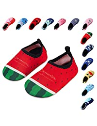 Kids Swim Water Shoes Boys Girls Toddler Barefoot Aqua Sock Shoes for Beach Pool Surfing Yoga Swimming Walking Unisex
