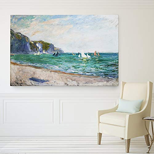 Wexford Home Monet 'Sailboats-Near-The-Sea' Canvas Wall Art (Monet Sailboats)