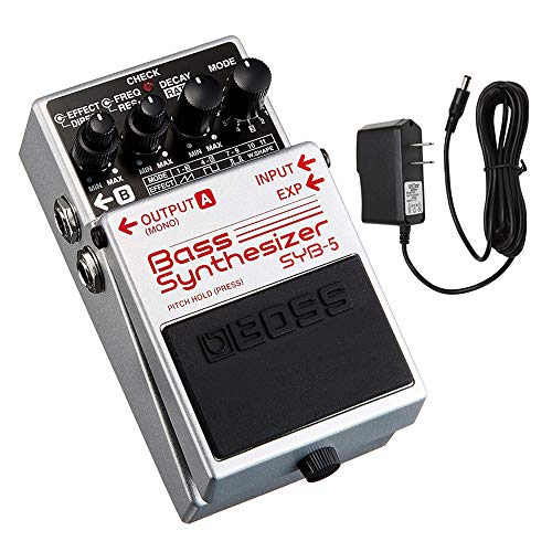 BOSS SYB-5 Bass Synthesizer Pedal with PigHog PP9V Pig Power 9V DC 1000ma Power Supply