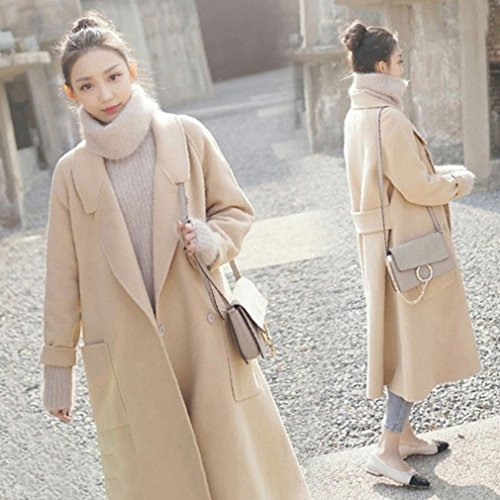 BTTB Loose Large Size Coat Jacket Female Midties Woolen Suit,Camel,S