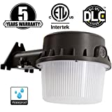 LED Yard Light,35W(Photocell Included),LED Dusk to dawn(250W Equiv.),5000K Daylight Floodlight, DLC & ETL-listed Yard Light for Area Lighting, Wet Location Available, Brown Housing 50K1PK