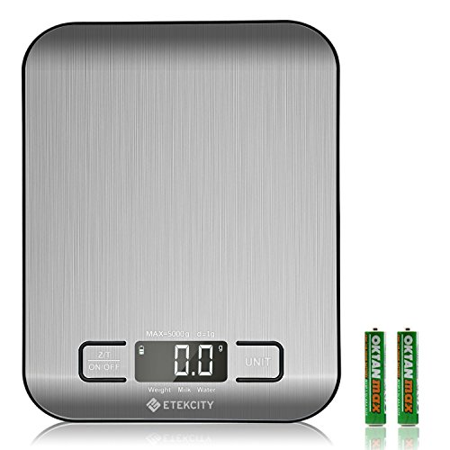 Etekcity Small Food Scale Grams and Ounces, Mini, Silver