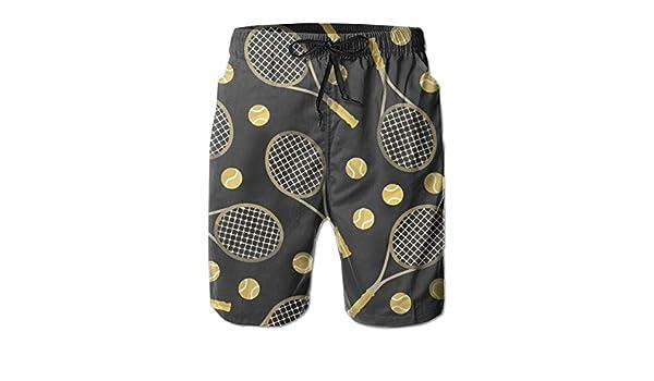 Corgi and Tennis Ball Pattern Kids Boys Fast Drying Beach Swim Trunks Pants