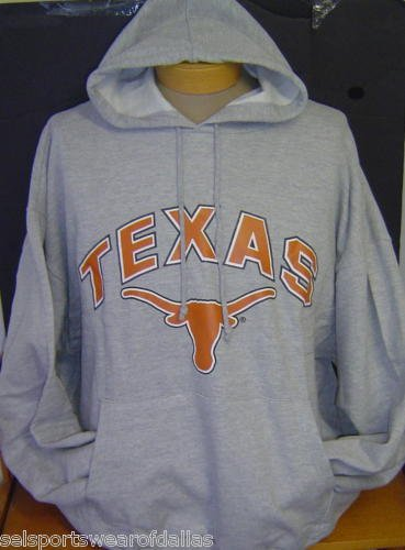 New! Extra Large - University of Texas UT Longhorns Gray Pullover Hoodie / Jacket (Texas Pullover Longhorns)