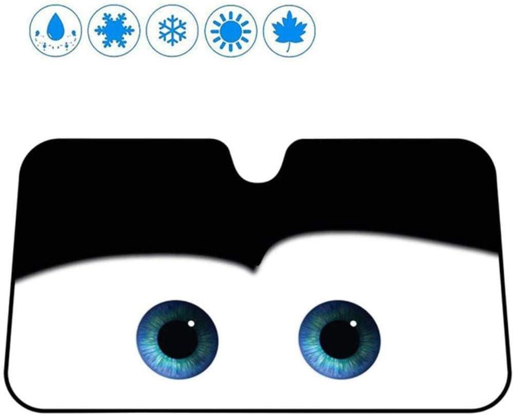 La Sombrilla Del Coche Del Parabrisas Del Parabrisas Del Coche Protector UV Cubierta 6 Colores Ojos Forma Del Coche Ventana Del Frente Sombrillas Impermeable Anti-Niebla Del Coche De Hielo,Azul