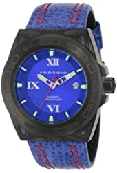 ANDROID Men's AD698BKBU Antiforce Analog Japanese-Automatic Blue Watch