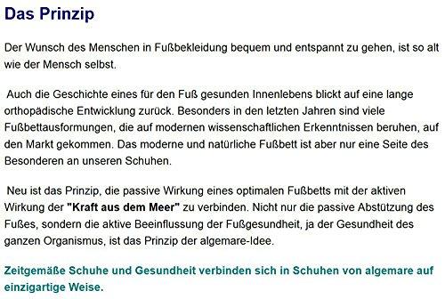 Algemare Sandalette Nuss Nubuk Algen-Kork Wechselfußbett Herstellung in Deutschland 7691_4825 Herren Sandale, Größe:44