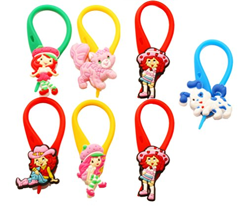 [AVIRGO 7 pcs Colorful Soft Zipper Pull Charms for Backpack Bag Pendantt Set # 101-4] (Cherry Apple Costumes)