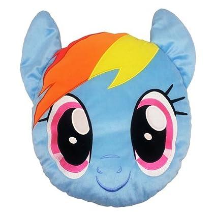 amazon com my little pony my little pony fleece face cushion rug