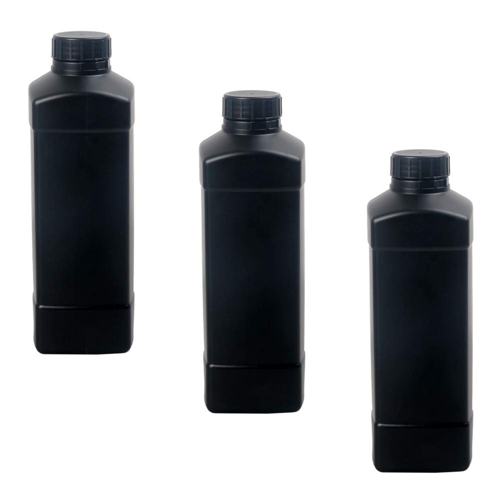 3X 1000ml Darkroom Chemical Storage Bottles Film Photo Developing Processing 1L by eTone