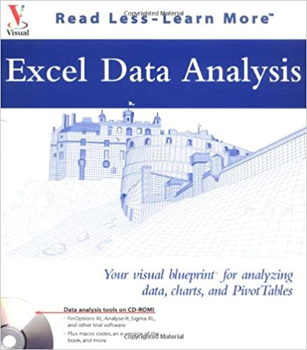 Excel Data Analysis Your Visual Blueprint For Analyzing Data