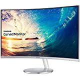 Samsung C27F591F LED Curved Monitor with Integrated Speaker, Sliver, 27 Inch