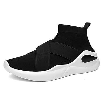 HDWY Zapatillas De Calcetines Estilo Mosca Línea Calcetines Zapatos Poner Pies Adolescentes Casual Confort Hombres Zapatos: Amazon.es: Deportes y aire libre