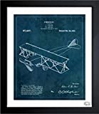 vintage airplane blueprint - Toy Airplane 1921' Vintage Framed Wall Art Print for Home decor & Office. The Airplanes Wall Decor Blueprint Collection by The Oliver Gal Artist Co. 26x32 inch