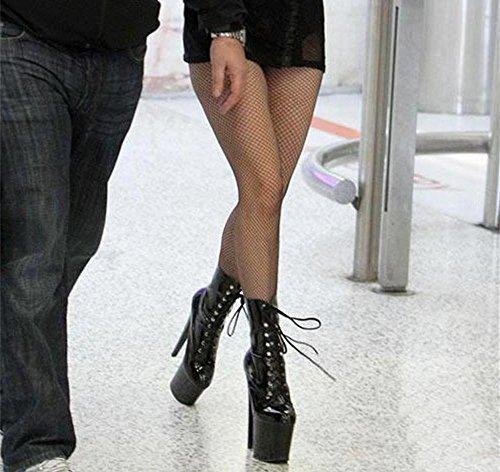 Nuit l'eau Sexy Super Boots Low Mode Imperméable Femmes Dames Cuir Nouvelle Lace Automne à Short NVXIE de Talon Hiver Boîte up EUR41UK758 Verni Delight w8zZBqn