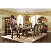 Aico Chateau Beauvais 9 Pc. - Rectangular Dining Table, 6 Side Chairs & 2 Arm Chairs