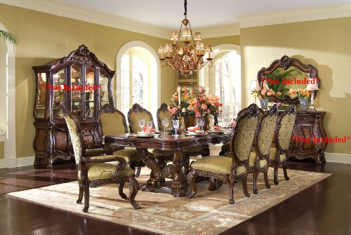 Aico Chateau Beauvais 9 Pc. - Rectangular Dining Table, 6 Side Chairs & 2 Arm (Aico Furniture)