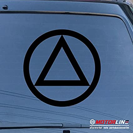 Alcohol Anonymous AA Home Decor Car Truck Window Decal Sticker