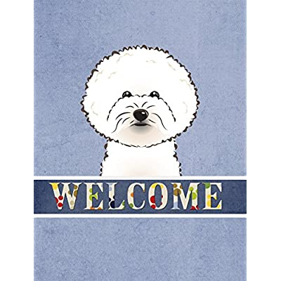 Carolines-Treasures-BB1403GF-Bichon-Frise-Welcome-Flag-Small-Multicolor