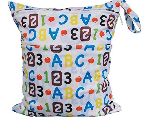 Jellbaby - bolsa de pañales, para bebé, impermeable, de impresión doble, con cremallera flower Talla:28cm x 30cm Digital pattern