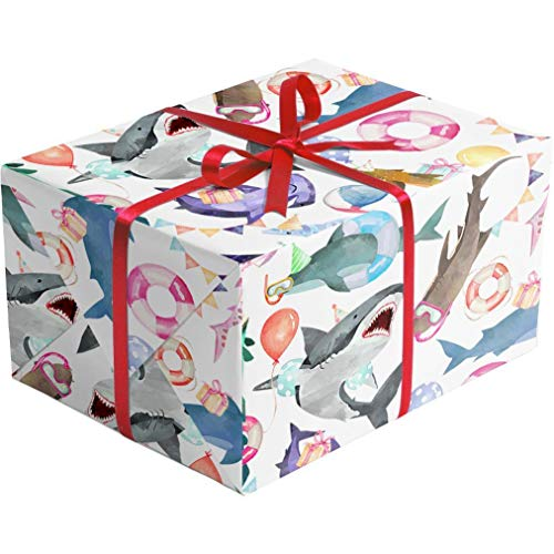 Sharks Gifts - Shark Party Gift Wrapping Paper -