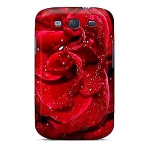 Cute Tpu DaMMeke Fresh Red Rose Case Cover For Galaxy S3