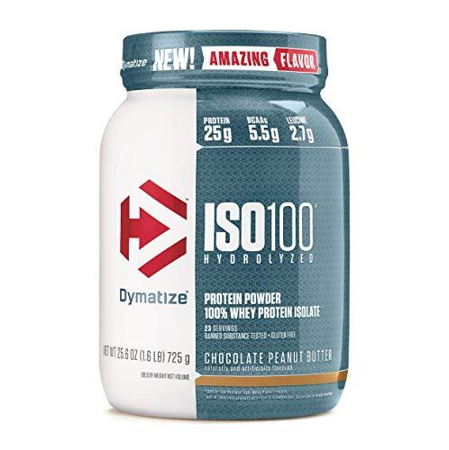 Dymatize ISO 100 Hydrolyzed Whey Protein Powder Isolate, Chocolate Peanut Butter, 1.6 Pound