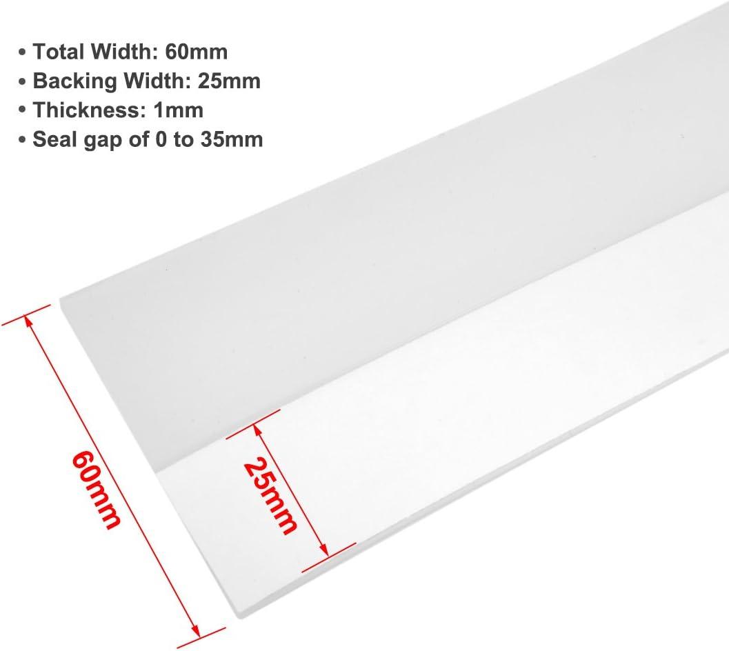 25mm Largeur 2M Long Joint d/étanch/éit/é de fond de porte sans cadre Brun sourcing map 1