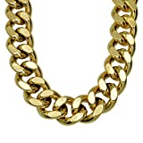 "Ahappy-18k gold Filled mens solid Heavy chain long Necklace curb ring link jewelry 19.68"" 23.6"" N224"