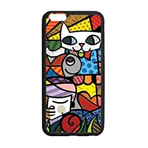 Canting_Good Romero Britto cat dog love art Custom Case Shell Skin for iPhone6 Plus 5.5 (Laser Technology)